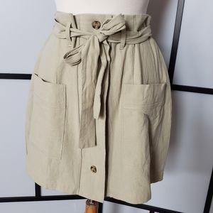 NWOT One Clothing LA button front tie waist skirt